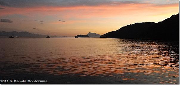 Enseada de Palmas ao amanhecer