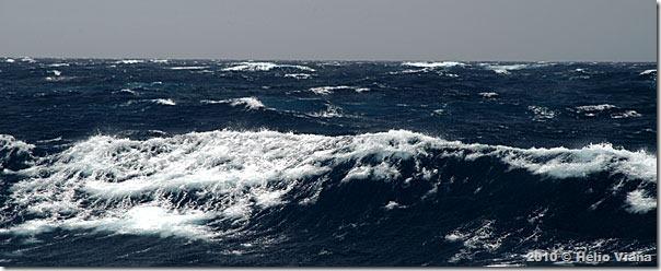 Mar grosso um dia antes da chegada