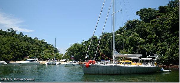 Ancoragem na Ilha de Paquetá