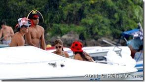 Piratas na procissão em Angra