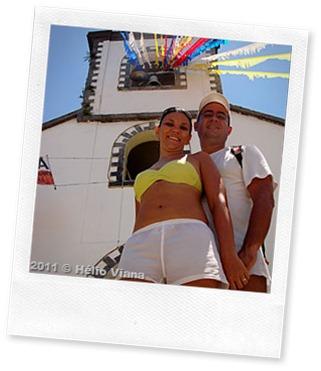 Zé e Camila na vila do Abraão